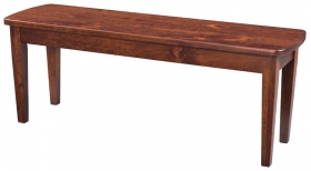 "48"" Bowed End Shaker Leg Bench"
