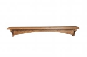 "Oak Modern Shelf - 5"" Deep Top"