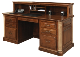"Jefferson 72"" Executive Desk- Optional Privacy Cubby"