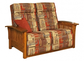 Mission Wallhugger Love Seat Recliner