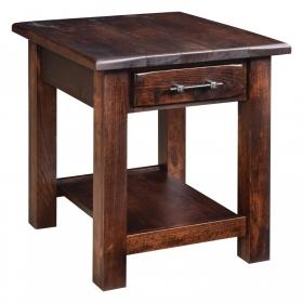 Barn Floor Open End Table