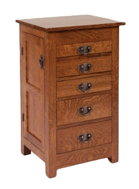 "35"" Flush Mission Jewelry Armoire"