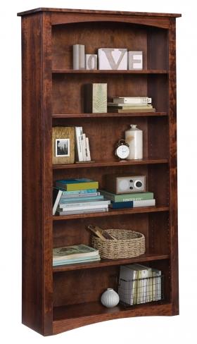 "Shaker 36"" x 72"" Bookcase - Sap Cherry"