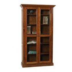 Classic Bookcase w/ Full Length Glass Doors