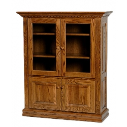 Classic Bookcase w/ Top and Bottom Doors