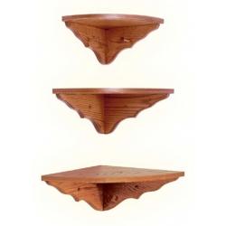 Oak Corner Shelf
