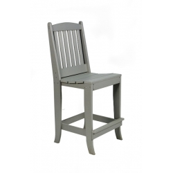 Slatted Side Bar Chair - Dove Gray
