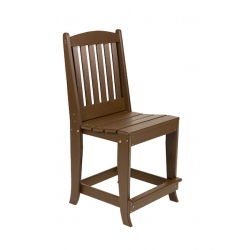 Slatted Arm Counter Chair