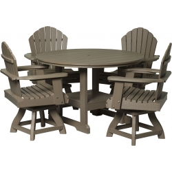 """Poly Outdoor Dining Cheyenne 48"""" Round Dining Table"""