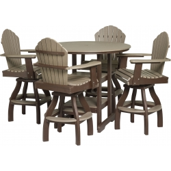 """Poly Outdoor Dining Cheyenne 48"""" Round Pub Table"""