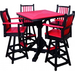 Poly Outdoor Dining Pub Table