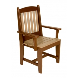 Slatted Arm Dining Chair