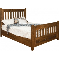 Timber Mill Queen Bed w/ Storage Footboard