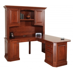 "Buckingham 68"" Corner Desk W/ Hutch"