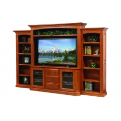 "Buckingham 68"" Entertainment Center & Side Bookcases"