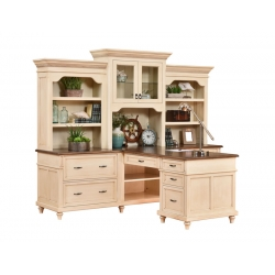 Bridgeport Partner Desk & Three Piece Hutch