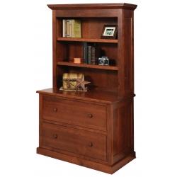 Homestead Lateral File W/ Bookshelf