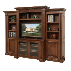"Lincoln 49"" Entertainment Center & Side Bookcases"