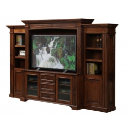 "Lincoln 68"" Entertainment Center & Side Bookcases"
