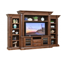Paris Entertainment Center & Side Bookcases