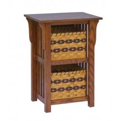 2-Basket Upright Mission Shelf