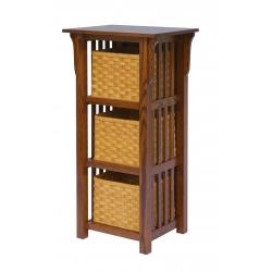 3-Basket Upright Mission Shelf