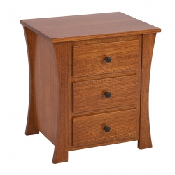 Abigail 3-Drawer Nightstand