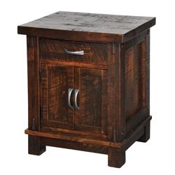 Timber 1 Drawer Nightstand w/ Doors