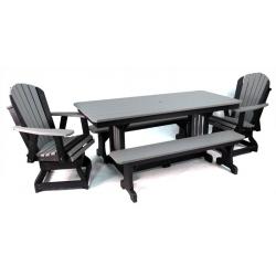 """33"""" x 72"""" Rectangular Table Set"""