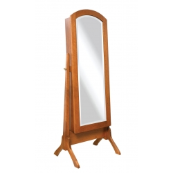 "Antique Shaker Mirror - 48"" Jewelry Cheval"