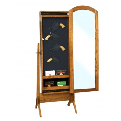 Antique Shaker Gun Cabinet Cheval Mirror