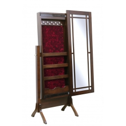 "Colonial Mission Mirror - 53"" Jewelry Cheval"