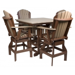 "44"" Counter Height Square Table Set"