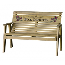 4' Rollback Personalized Bench