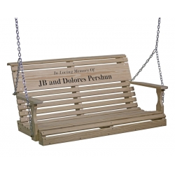 4' Rollback Personalized Glider Swing