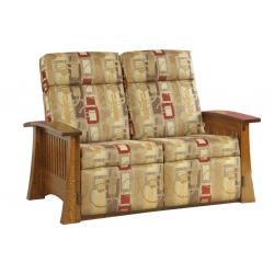 Craftsman Mission Wallhugger Love Seat Recliner