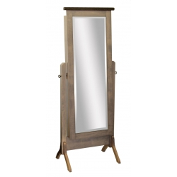 "Barn Wood Mirror - 53"" Jewelry Cheval"