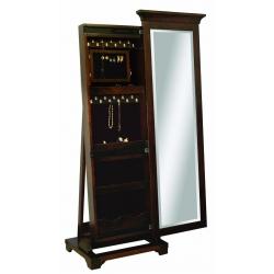 "Arlington Shaker Leaner Mirror - 48"" Jewelry Box"