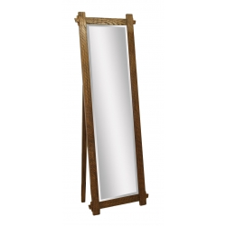 Hartford Leaner Mirror with Support - Roughsawn