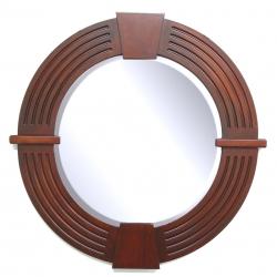 Large Round Keystone Mirror