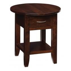 Barrington Oval Top End Table with Shelf