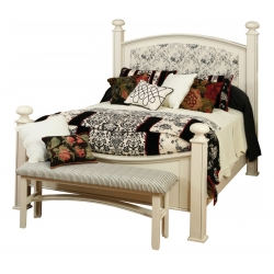 Luellen Bed with Fabric Panel