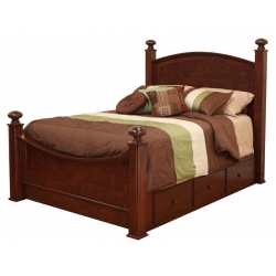 Luellen Bed with Storage Rails