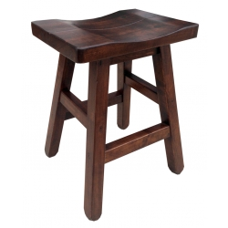 "24"" Saddle Stool with Splined Seat"