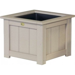 "24"" Poly Square Planter"