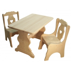 Child's Heart Table and Chair Set