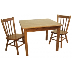 Child's Two Poster Table and Chair Set