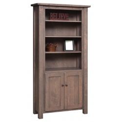 """Barn Floor 72"""" Bookcase with Doors"""