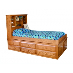6-Drawer Twin Captain's Bed