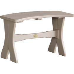 """Poly 28"""" Table Bench"""